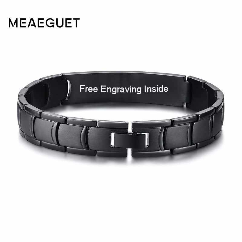 Stainless Steel Men Bracelet Personalized Braslet Man Dropshipping Jewelry Free Engraving
