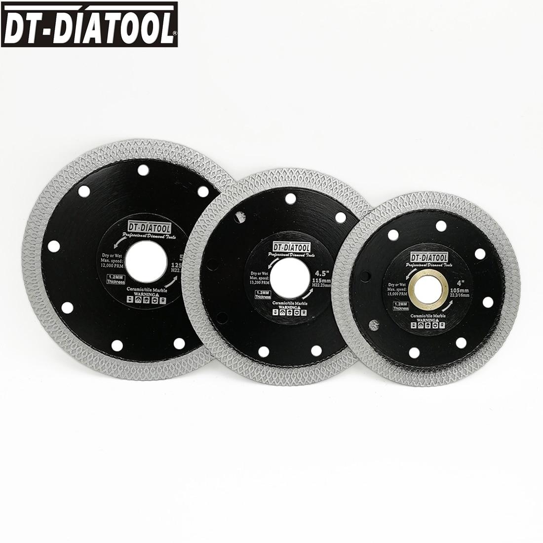 DT-DIATOOL 5pcs/pk Dia 105/115/125MM High Quality Dry Or Wet Diamond X Mesh Turbo Rim Segment Saw Blades Cutting Disc 4