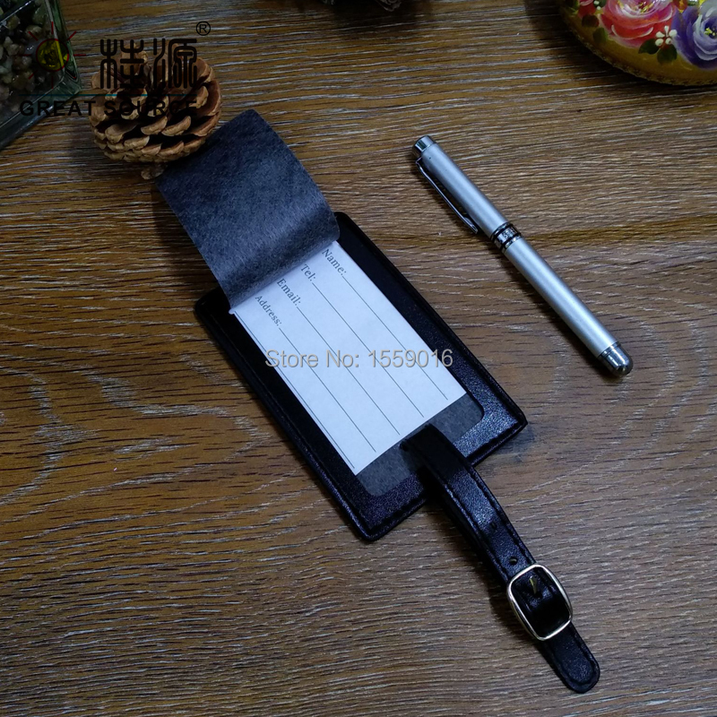 Luggage tag travelling suitcase label leather Free shipping in Card Stock from Office School Supplies
