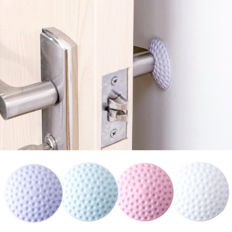 1Pc Door Fenders Wall Thickening Mute Modelling Rubber Fender The Handle Door Lock Protective Pad For Wall Protection