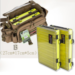 Image 5 - Portable Double Sided Fishing Tackle Boxes Multifunction 14 Compartments Fishing Lures  Container Box Fishing Gear Accessories