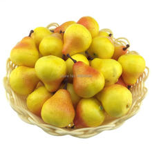 Gresorth 40pcs MINI Artificial Yellow Pear Decoration Fake Fruit Home Party Kitchen Food Photography Props