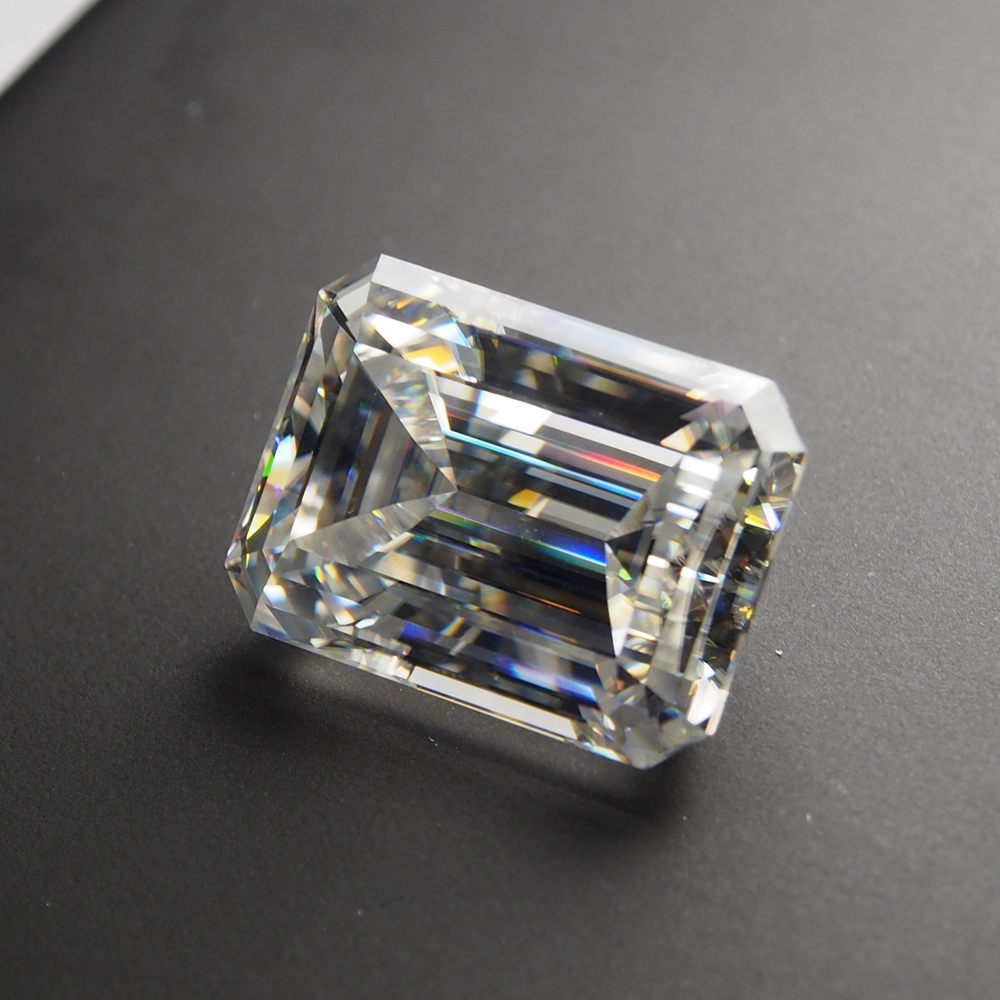 4 6mm Emerald Cut 0 5 carat White Moissanite Stone Loose Moissanite Diamond for Ring making