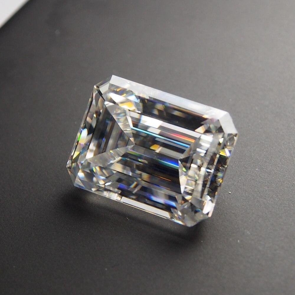 4*6mm Emerald Cut 0.5 karatowego białego kamień Moissanite luźny moissanit diament dla pierścień wyrobu w Diamenty i kamienie jubilerskie luzem od Biżuteria i akcesoria na  Grupa 1