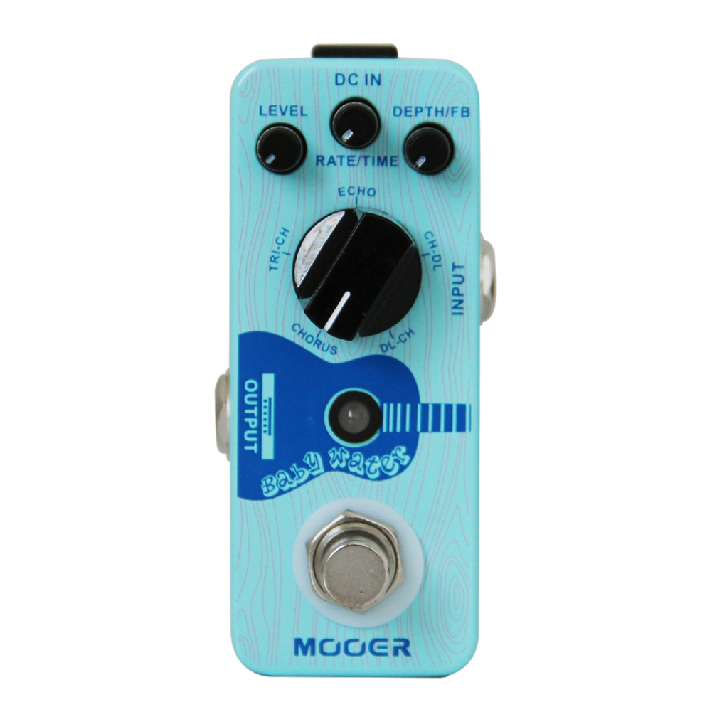 MOOER Baby Water Acoustic Guitar Delay and Chorus Pedal With Perfect Digital Effect PlatformMOOER Baby Water Acoustic Guitar Delay and Chorus Pedal With Perfect Digital Effect Platform