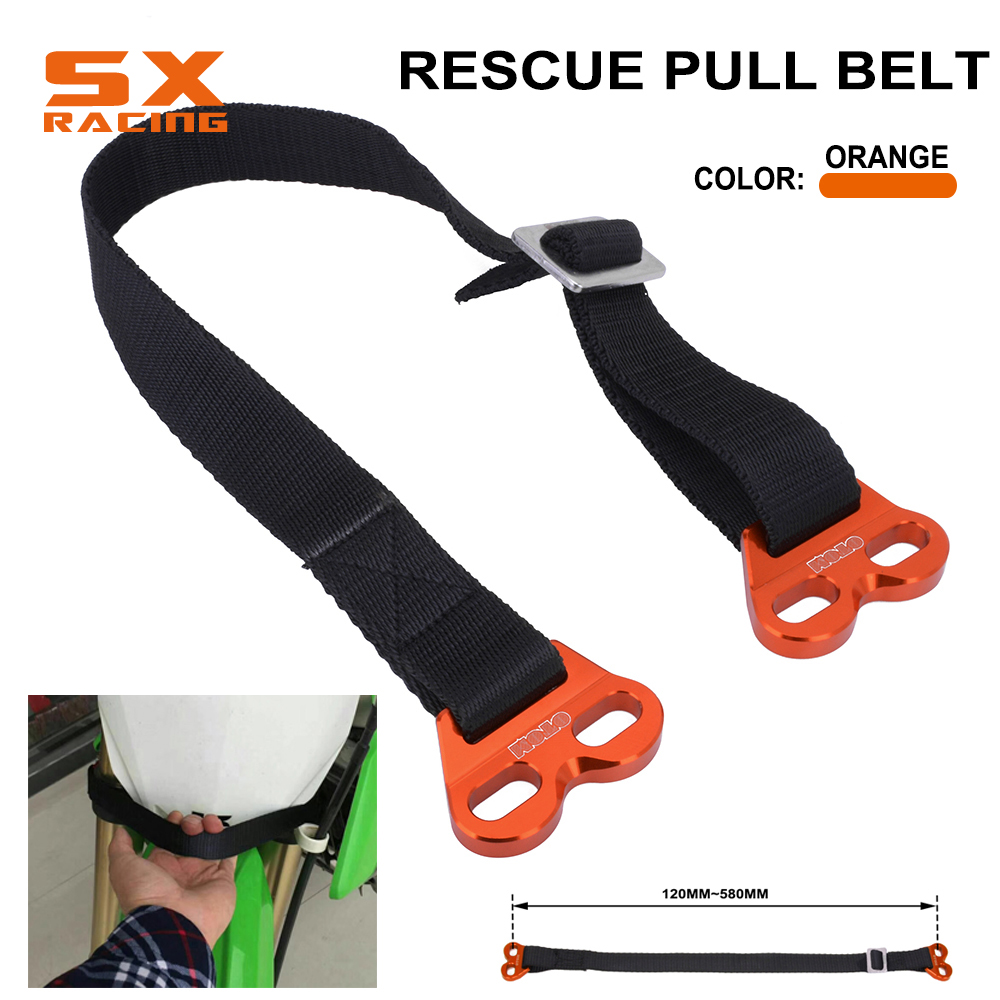 2Pcs Adjustable Motorcycle Dirt Bike Rescue Pull Belt Draw Leashes Universal