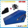 1000W 52V 15AH литиевая аккумуляторная батарея 52V 14.5AH треугольная батарея Ebike Для samsung 2900mah ячейка 30A BMS с сумкой 2A зарядное устройство