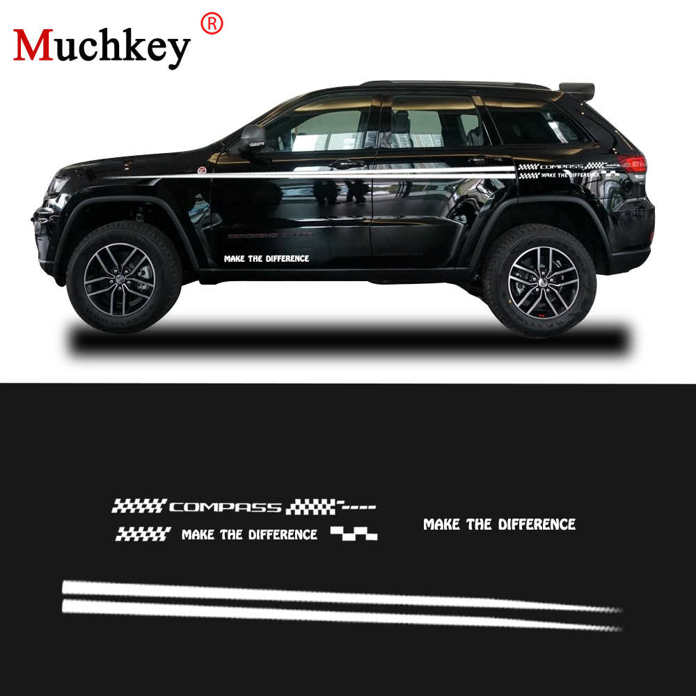 Car accessories for jeep compass hatchback sedan suv car side body decal sticker diy decoration custom