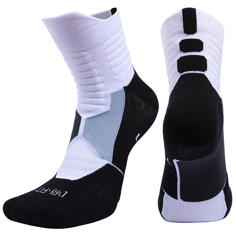 1 Pair Basketball Socks Unisex Deodorant Sports Socks Hiking Camping Cycling Socks Towel Bottom Compression Socks