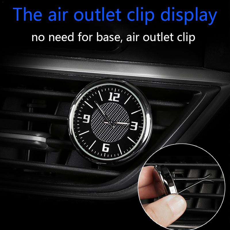Car Clock Ornament Air Outlet Clip Electronic Clock Decoration Refitting Interio