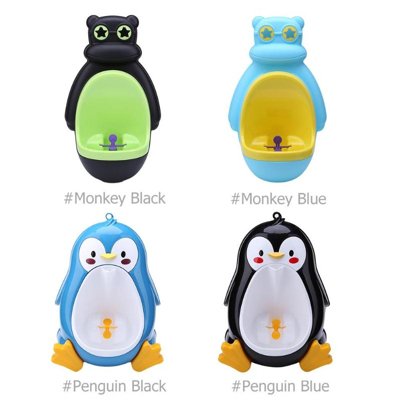Animal Frog Penguin  Shape Kids Children Stand Vertical Urinal Infant Penico PeeBaby Urinal Babies Boys Potty Toilet Training