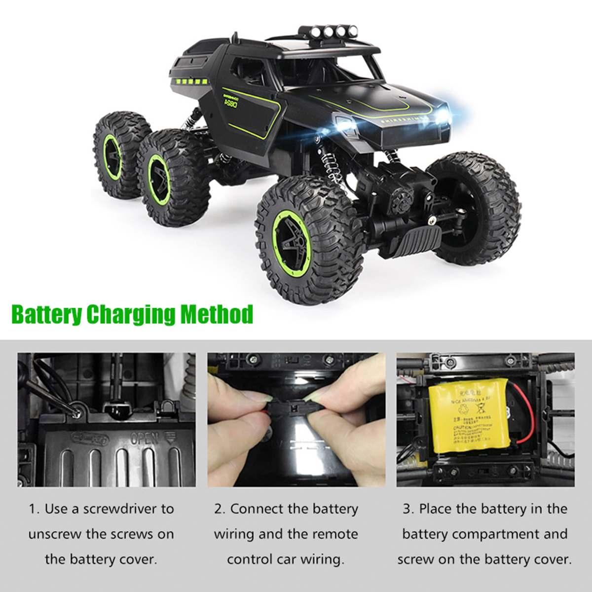 1/12 6WD tout-terrain voiture lecteur grimpeur avec échelle de phare 2.4 GHz RC camion jouet cadeau de noël pour enfants et adultes - 2