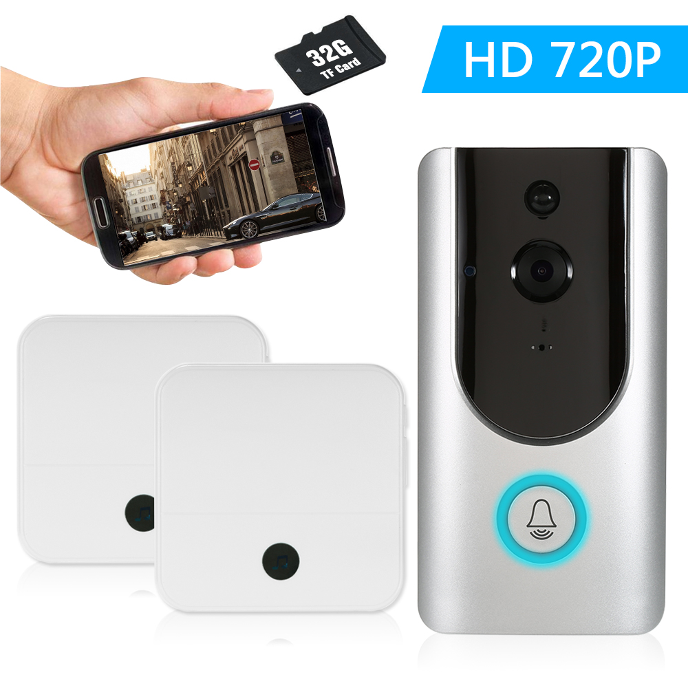 HD 720P WiFi Smart Wireless Security Doorbell With TF