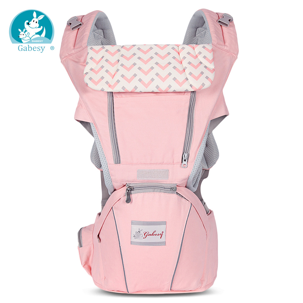 Gabesy 0-36 Months Newborn 3 In 1 Ergonomic Baby Carrier Hip Seat Infant Sling Kid Backpack Cotton Material Load Bearing 20kg