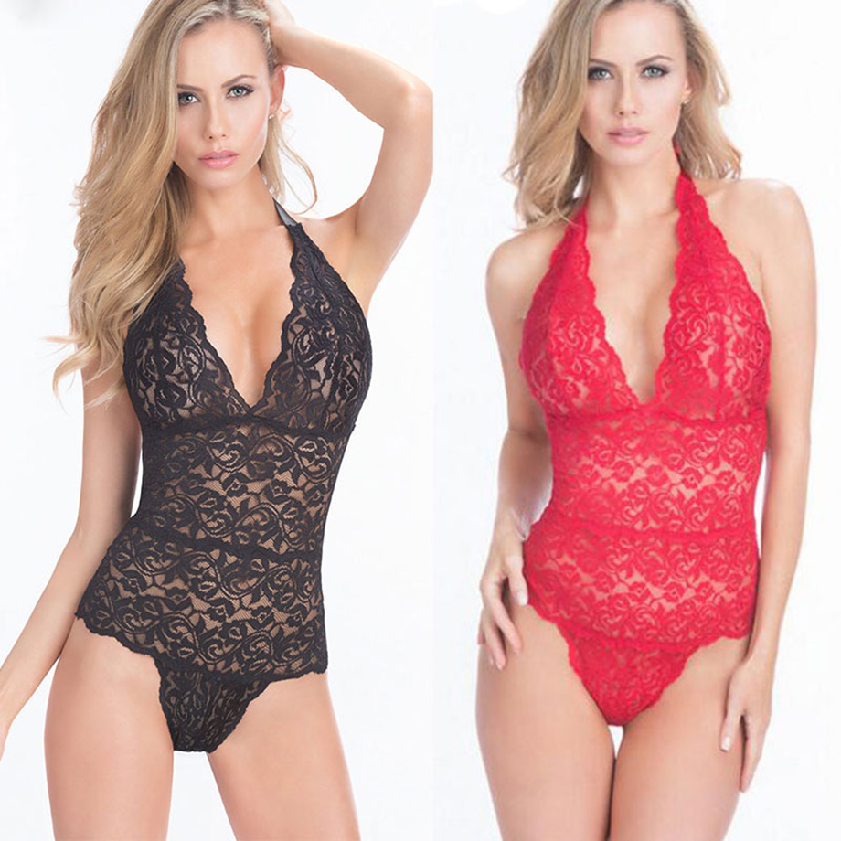 Babydoll Sexy Teddy Lingerie Lace Plus Size Sexy Erotic Lingerie Women Underwear Porn Pajamas Dress Sexy Babydoll Costumes