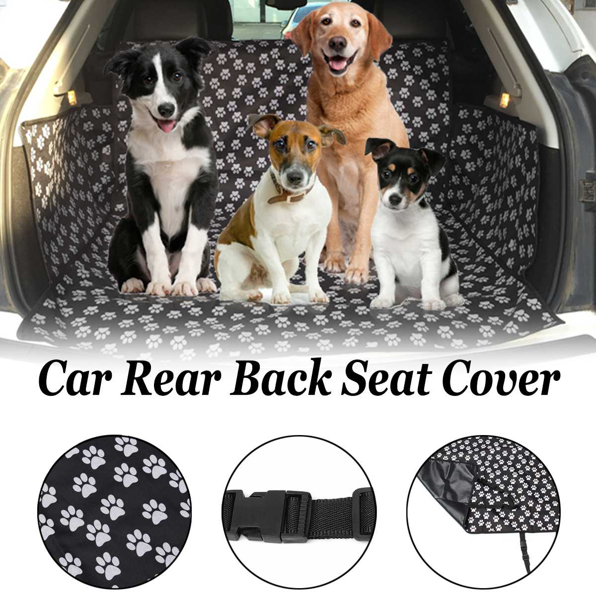 Waterproof Car Back Seat Cover Protector Anti dirty Back Pet/Cat/Dog Seat Hammock Cushion Covers Mat Travel Pet Carries