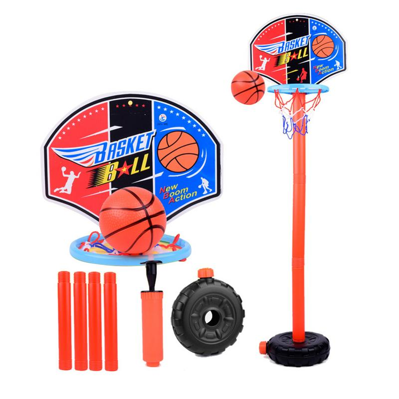 Basketball Stands Portable Adjustable Kids Basketball Goal Hoop Toy Set Basketball For Boys Training Practice Accessories