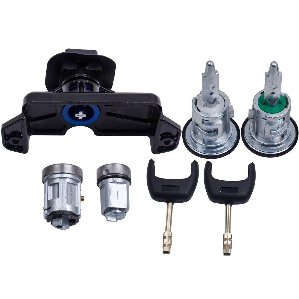 6C1AV22050XB 5 pièces ensemble complet interrupteur d'allumage avant gauche droite serrure de porte carburant pour Ford Transit Automobile antivol auto