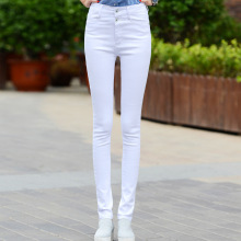 цены на Spring Summer Women Denim Pants High Waist Stretch Jeans Slim Pencil Trousers Wash Skinny Jeans Woman  в интернет-магазинах