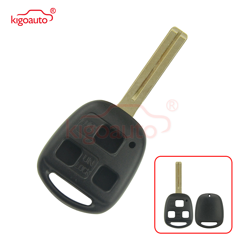 Kigoauto 3 button Remote key shell toy48 short for <font><b>Lexus</b></font> <font><b>RX300</b></font> RX330 RX350 RX400H <font><b>1998</b></font> 1999 2000 2002 <font><b>2003</b></font> image