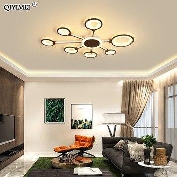Café cor do ouro lâmpadas de teto led para sala estar quarto regulável controle remoto acrílico brilhante iluminação interior dispositivo elétrico
