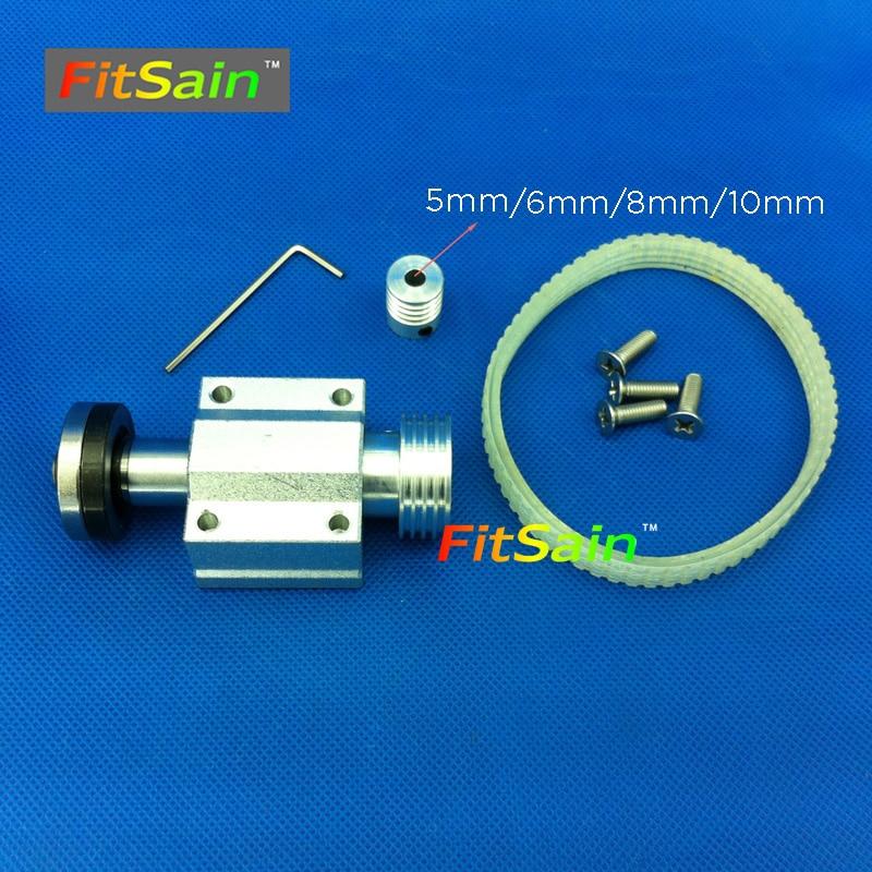 "FitSain-Mini-tafelzaag voor motoras 5 mm / 6 mm / 8 mm / 10 mm 4 ""zaagbladgat 16 mm / 20 mm Riemspindelzaagasassemblage Lager"