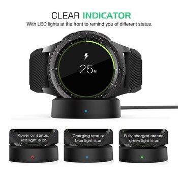 삼성 갤럭시 시계 용 무선 충전기 갤럭시 스마트 시계 용 42/46mm 충전 충전 도크 S2 S3 Moto 360 1 2 Ticwatch
