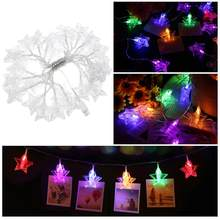 5.5M 30 LED Stars Photo Clips String Lights USB Fairy String Lights Perfect For Hanging Pictures Notes Artwork Room(China)