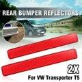 Пара  Красный Задний Передний и правый бампер  рефлектор  задние фары  стоп-сигнал  парковочный предупреждающий сигнал для VW Volkswagen транспорт...