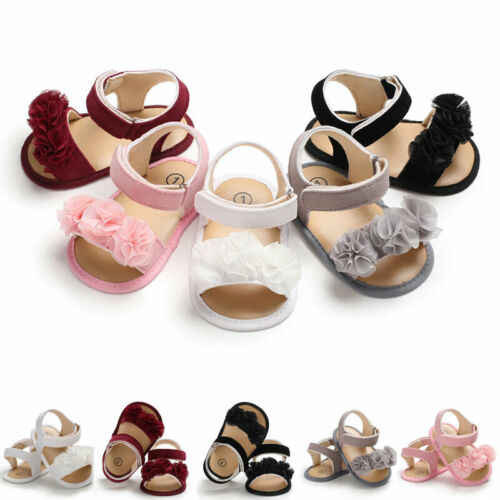 PUDCOCO Newborn Kid Baby Girl Flower Sandals Summer Casual Crib Shoes First Prewalker Girl shoes mini melissa sandals