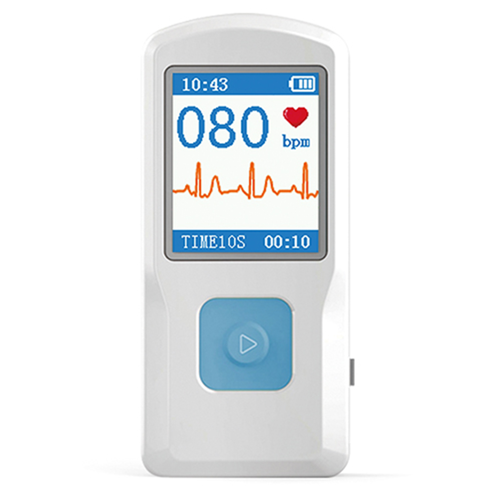 CONTEC PM10 Portable ECG EKG Machine Color Screen ECG Monitor Handheld Heart Machine BT USB PC