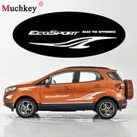 Car Logo Sticker for Ford EcoSport Car Side Body Decal for Hatchback Sedan SUV Decals DIY Decoration Car Accessories 180CM