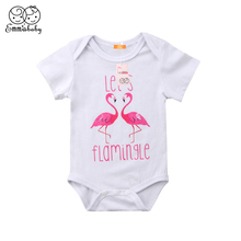 Summer Newborn Baby Rompers Short Sleeve Toddler Infant Jumpsuits Cartoon Printed Boy Girl Overalls Clothes
