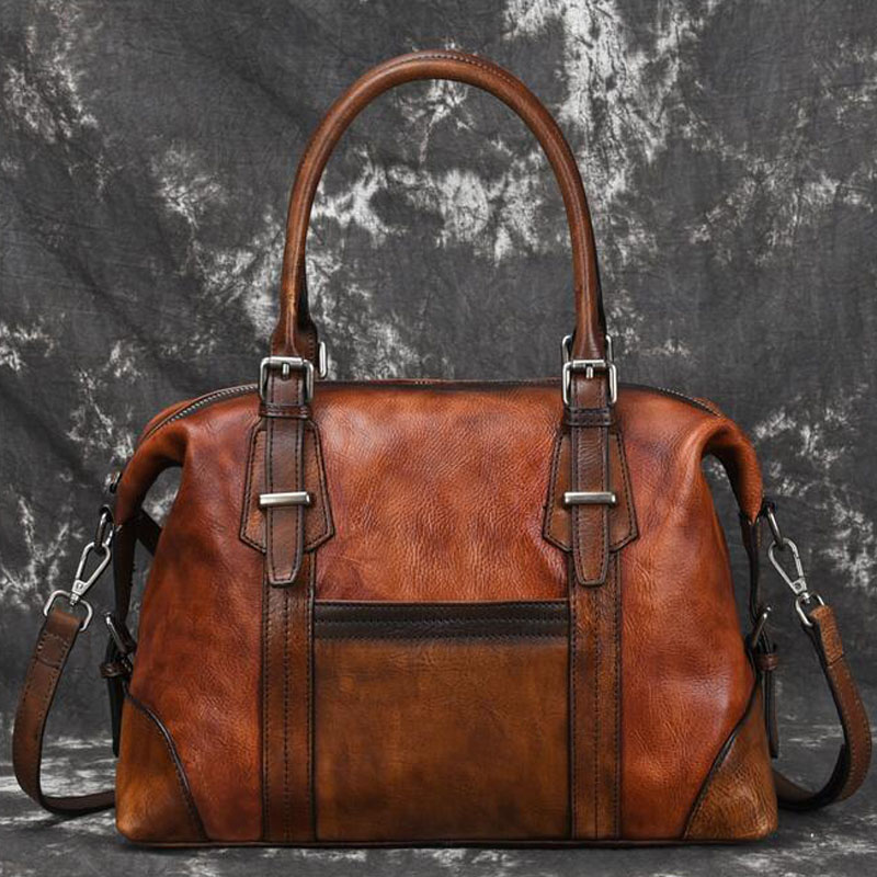 Women Genuine Leather Cross Body Messenger  for Female Top Handle Bag First Layer Cowhide Retro Handbag Female Shoulder Tote BagWomen Genuine Leather Cross Body Messenger  for Female Top Handle Bag First Layer Cowhide Retro Handbag Female Shoulder Tote Bag