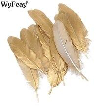 0afba28c8805 Venta al por mayor de oro plata plumas de ganso para manualidades joyería  de accesorios de