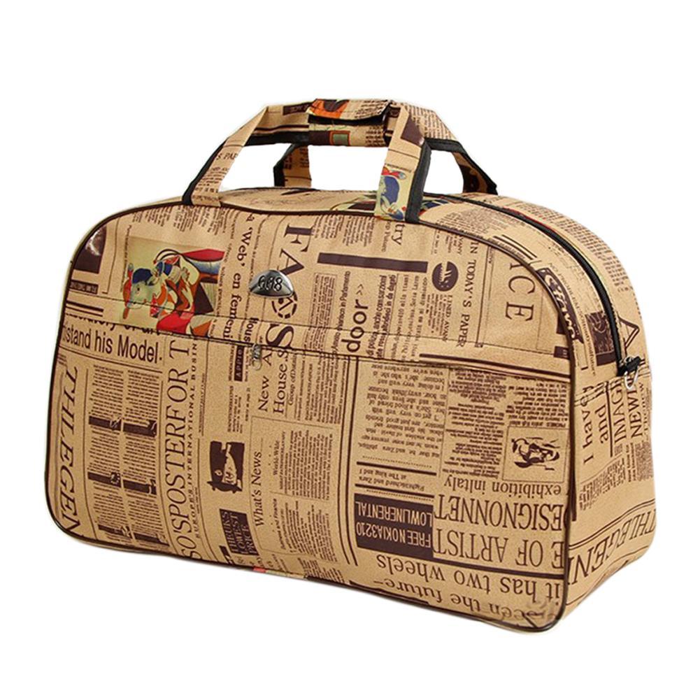 Women Travel Bags  Pu Leather Large Capacity Waterproof Print Luggage Duffle Bag Casual Travel Bags PT1083