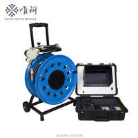 Battey Powered 120mts cable borehole inspection camera with depth counter function and HD DVR 720P video V10-100