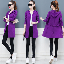 Coat female in the spring and autumn period new womens clothing han edition long loose joker thin ladies tops of