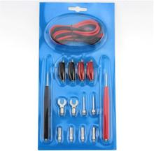 16pcs Multifunction Digital Multimeter Test Leads With Crocodile Clips Spade Connectors Probes Voltage Meter Cable Kit cleqee p1500 test leads kit replaceable test wires probes for digital multimeter test leads crocodile clips u type probe