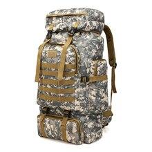 6c569aa6fd5 Outdoor Grote Capaciteit Army Militaire Tactische Bag Camping Wandelen Waterdichte  Rugzak Oxford Doek Digitale Camouflage Rugzak