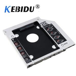 Kebidu 12.7/9.5mm Aluminum Metal Material Universal 2nd HDD Caddy SATA to SATA 2.5