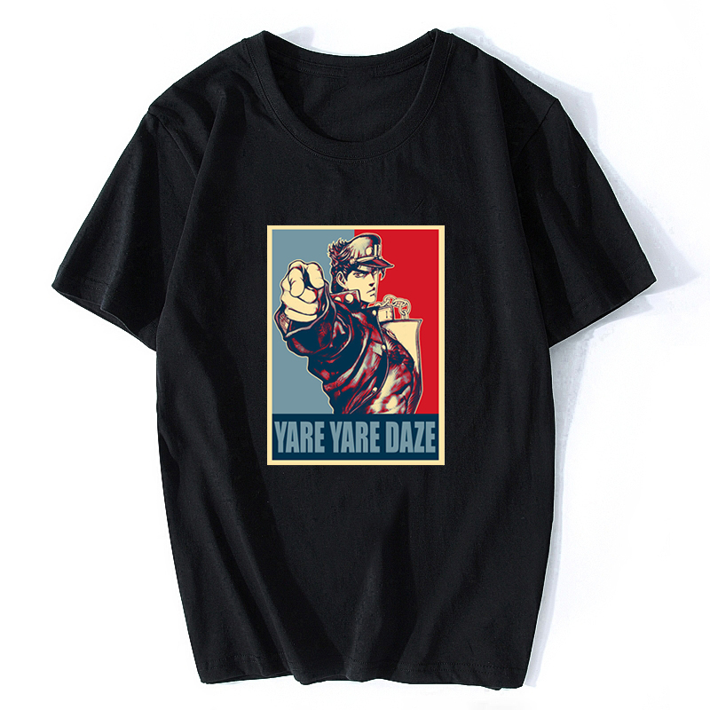 Yare Yare Daze Jojos Bizarre Adventure Vintage Joestar Joseph   T     Shirt   Sale Cotton Pop Boy Cotton Men   Shirts   Anime   Shirt