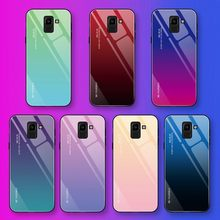 Colorful Case For Samsung Galaxy S8 S9 S10 e Plus J4 J6 J8 A6 A7 A8 A9 2018 A10 A20 A30 A40 A50 A60 A70 M30 Tempered Glass Cover(China)