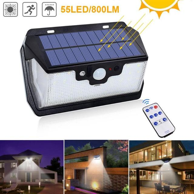 1000lm 55LED Waterproof Garden Solar Light USB Charging 1