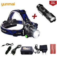 2019 Yunmai New Led Headlamp T6 Zoom Waterproof Flashlight Head Luminaria Camping Lamps Use 18650 Battery