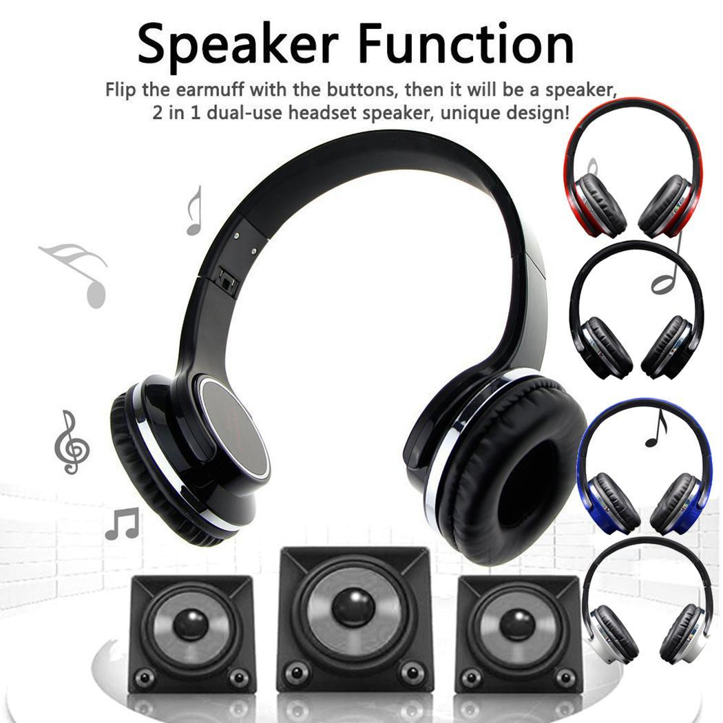 H666 2 in 1 Bluetooth Speaker with Foldable Headphone Music Player