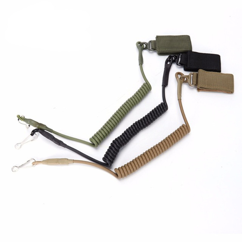 Backpack Lanyard-Strap Coil-Sling Pistol-Tool Elastic-Belt Handgun-Shooting Airsoft Military