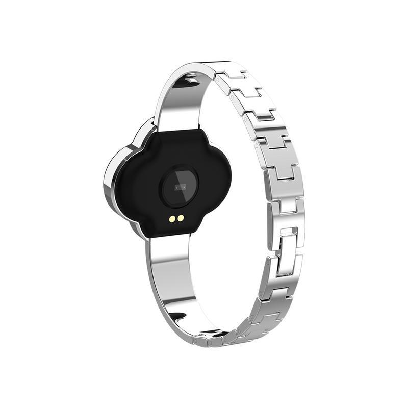 Femmes Bracelet intelligent à quatre feuilles trèfle cadran bijoux Bracelet sport Bracelet Bluetooth montres en alliage de Zinc coquille en acier sangle - 5