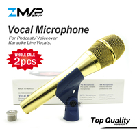 2pcs/lot Top Quality KSM9 Professional Live Vocals KSM9G Dynamic Wired Microphone Karaoke Super Cardioid Podcast Microfono Mic