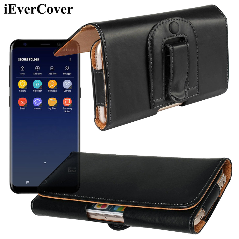 Horizontal Leather Case Pouch Bag Holster Cover w/ Belt Clip for Samsung Galaxy S8 MSM8998 G9500n G950N G950U Exynos G950F